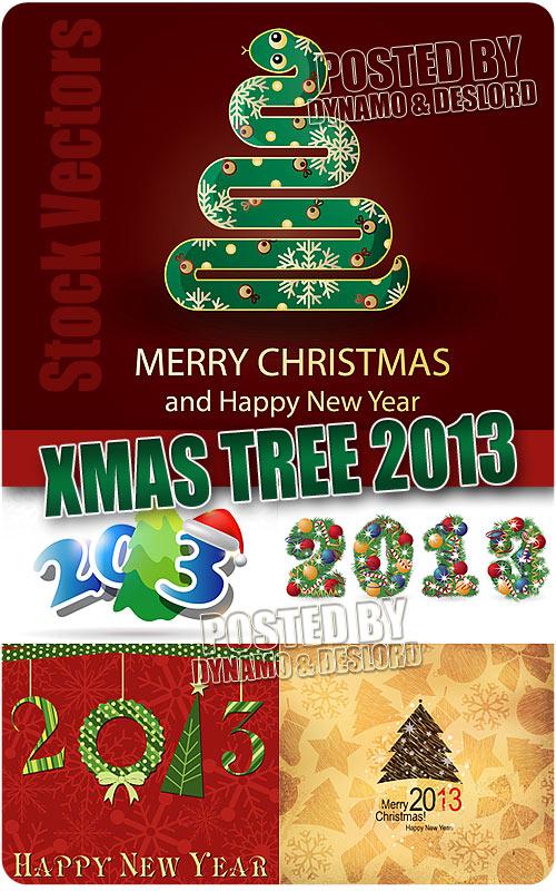 Новогдняя елка 2013 - Векторный клипарт