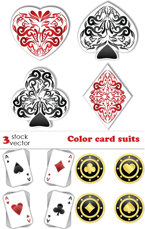 Color card  suits