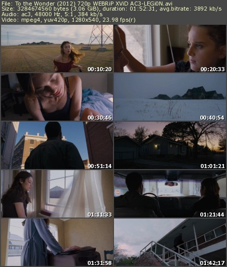 To the Wonder (2012) 720p WEBRiP XViD AC3-LEGi0N