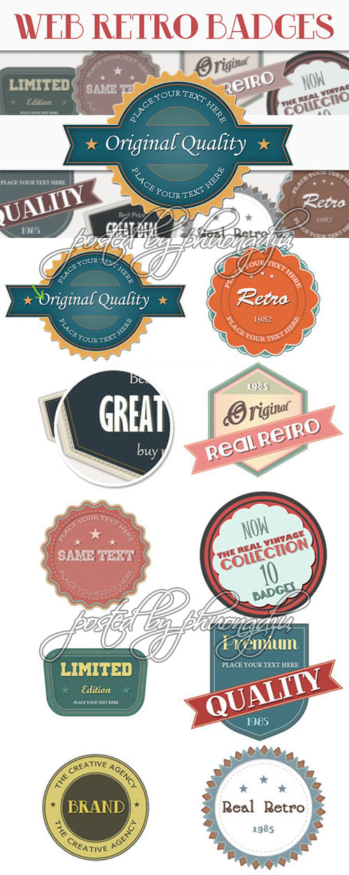 DesignTNT: Retro Web Badges