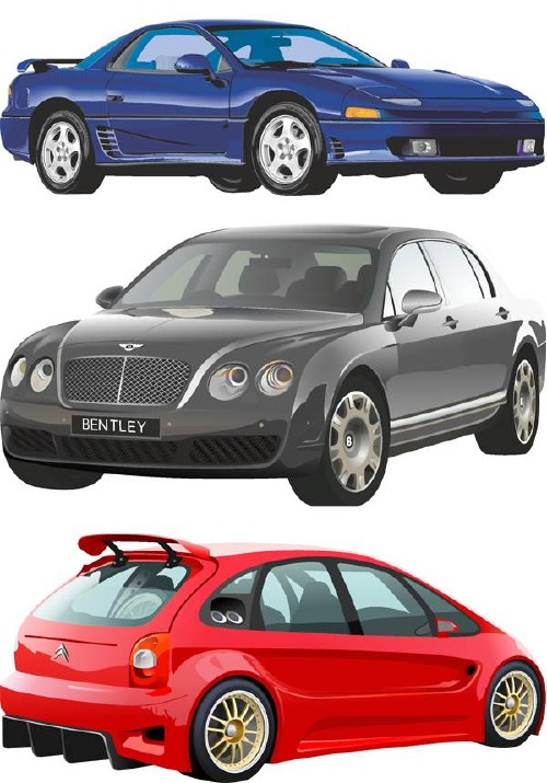 Modern cars in the vector (part two)