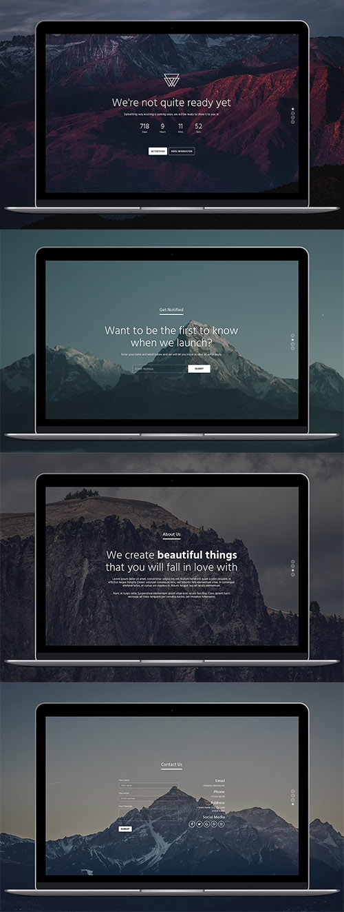 Bootstrap 4 Coming Soon Template - CM 1170843