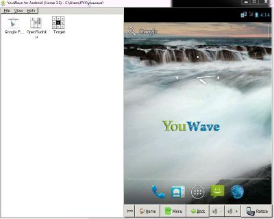 YouWave for Android Home 3.1