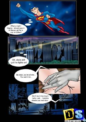 Superman & Saturn Girl comic