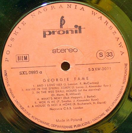 Georgie Fame - Georgie Does His Thing With Strings (1969),