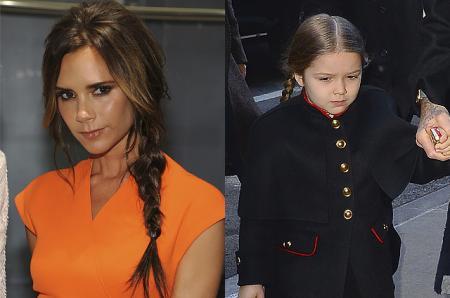 Виктория Бекхэм и ее дочь Харпер сфотографировались в одинаковых халатах