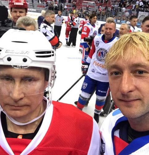 Владимир Путин и Евгений Плющенко
